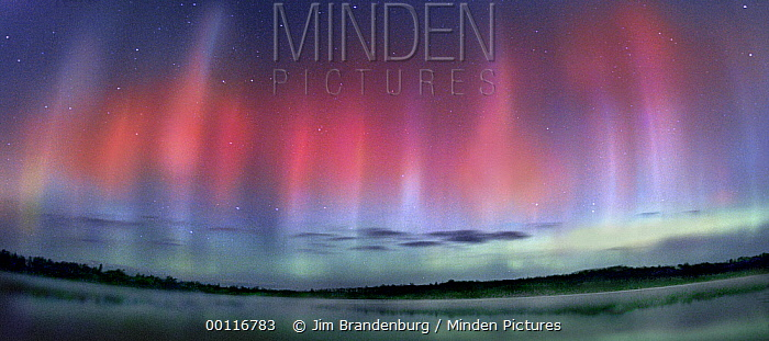 Aurora borealis over Jasper Lake, Northwoods, Minnesota  -  Jim Brandenburg