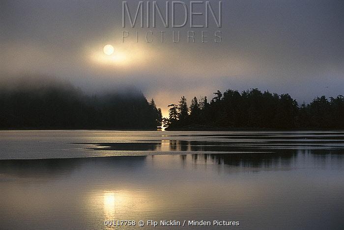 Clayoquot Sound at sunrise, Vancouver Island, British Columbia, Canada  -  Flip  Nicklin