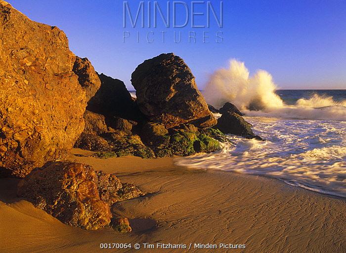 Waves crashing on Point Dume Beach, California  -  Tim Fitzharris