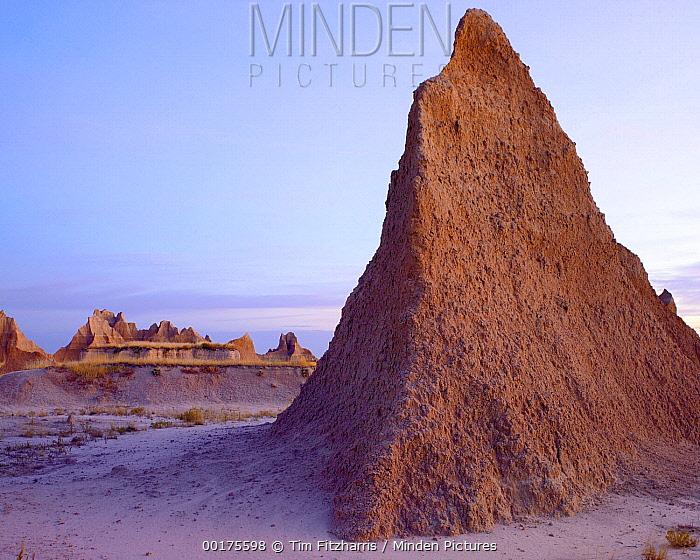 Landscape showing erosional features, Badlands National Park, South Dakota  -  Tim Fitzharris
