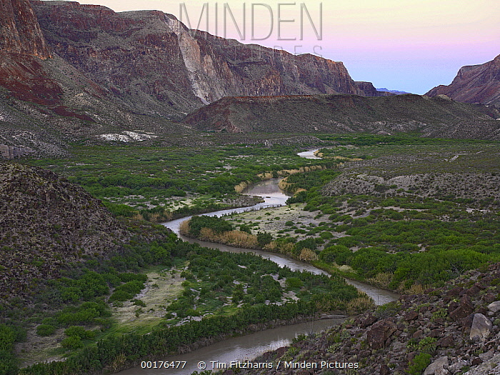 Rio Grande from Big Hill Overlook, Big Bend Ranch State Park, Chihuahuan Desert, Texas  -  Tim Fitzharris