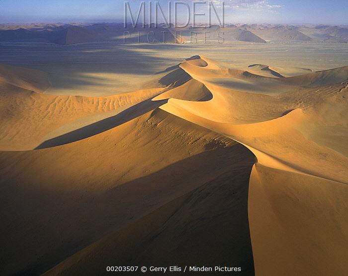 Star dune formations, Namib-Naukluft National Park, Namibia