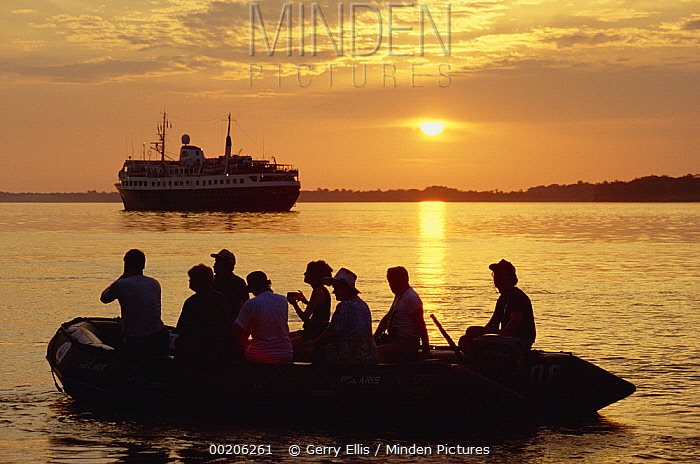 Ecotourism along the Amazon River, Amazon Basin, Brazil  -  Gerry Ellis