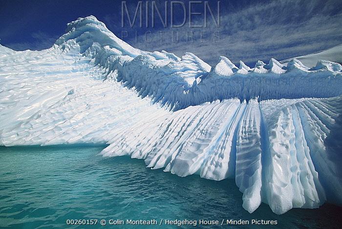 Overturned iceberg with eroded edges, Enterprise Island, Gerlache Strait, Antarctica  -  Colin Monteath/ Hedgehog House