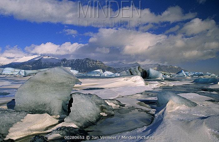 Glacial ice, Jokullsarlon, Iceland  -  Jan Vermeer