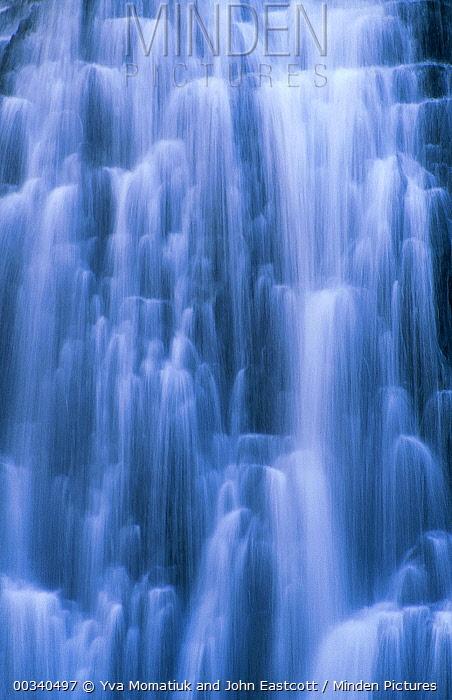 Waterfall near Mammoth Hot Springs, Yellowstone National Park, Wyoming  -  Yva Momatiuk & John Eastcott