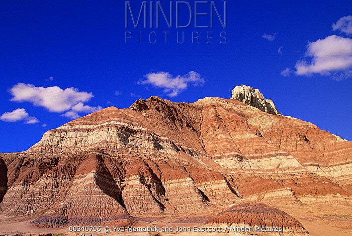 Layered sandstone buttes, Chinle Formation Desert, Grand Staircase-Escalante National Monument, Utah  -  Yva Momatiuk & John Eastcott