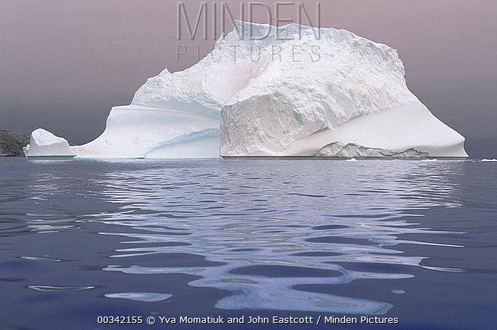 Large iceberg drifting in Labrador Sea current, summer season, Labrador, Newfoundland, Canada  -  Yva Momatiuk & John Eastcott