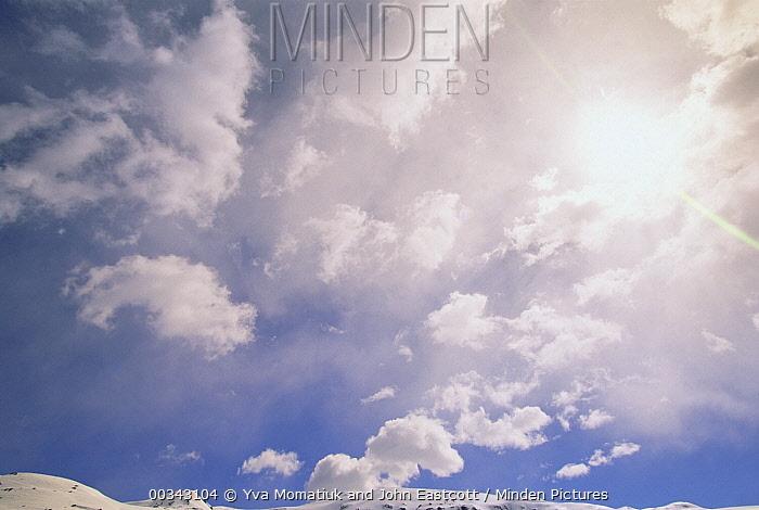 Cumulus clouds, spring, North Slope, Alaska  -  Yva Momatiuk & John Eastcott