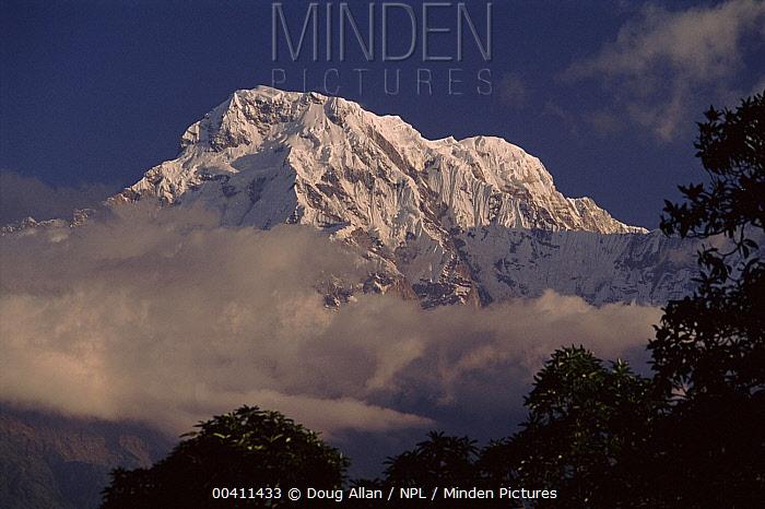 Annapurna massif in clouds, Nepal  -  Doug Allan/ npl