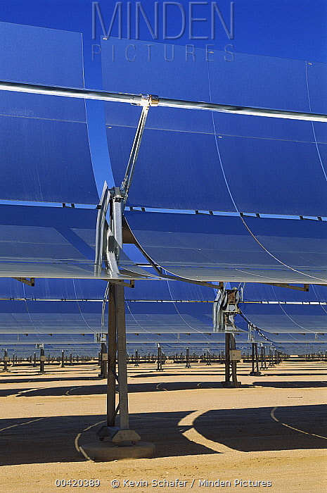 Solar Energy Generating Systems (SEGS), the largest solar power facility in the world, Mojave Desert, California  -  Kevin Schafer