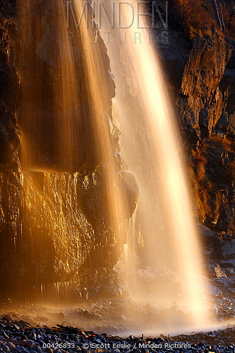 Coastal waterfall and cliffs, Bay of Fundy, Nova Scotia, Canada  -  Scott Leslie