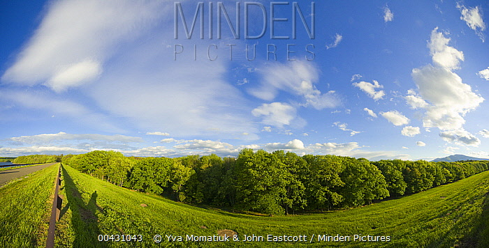 Dike and walkway, Ashokan Reservoir, Catskill Mountains, New York  -  Yva Momatiuk & John Eastcott