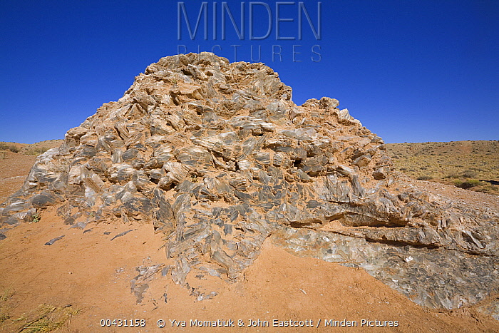 Pile of gypsum crystals called Glass Mountain, Capitol Reef National Park, Utah  -  Yva Momatiuk & John Eastcott