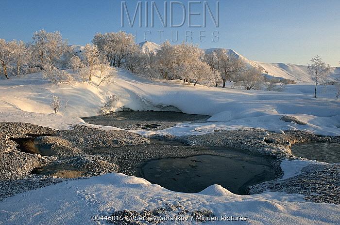 Hot springs in winter, Kamchatka, Russia  -  Sergey Gorshkov