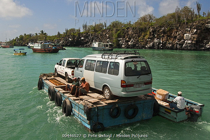 New cars imported from the mainland, Puerto Ayora, Santa Cruz Island, Galapagos Islands, Ecuador  -  Pete Oxford