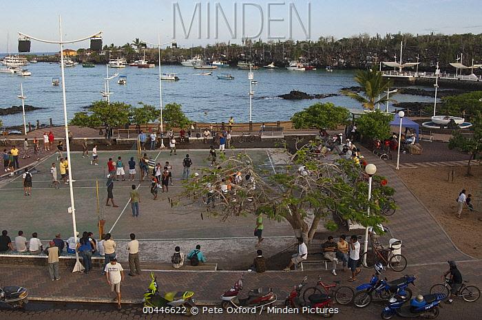 City coastline in Puerto Ayora, Santa Cruz Island, Galapagos Islands, Ecuador  -  Pete Oxford