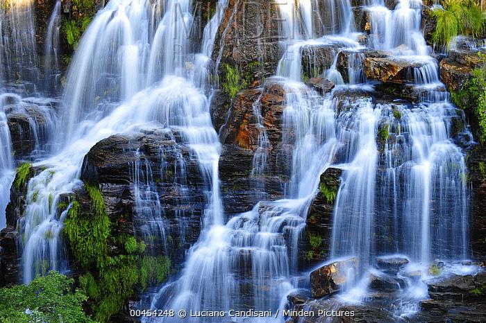 Waterfall, Chapada dos Veadeiros National Park, Goias State, Brazil  -  Luciano Candisani