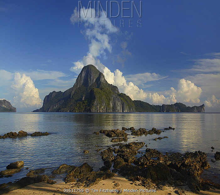 Tropical island, Cadlao Island, Palawan, Philippines  -  Tim Fitzharris
