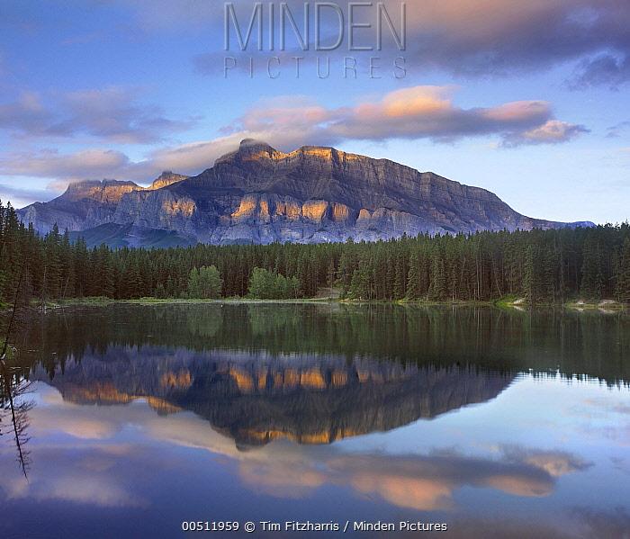 Johnson Lake and Mount Rundle, Banff National Park, Alberta, Canada  -  Tim Fitzharris