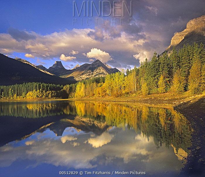 Mount Kidd and Wedge Pond, Kananaskis Country, Alberta, Canada  -  Tim Fitzharris