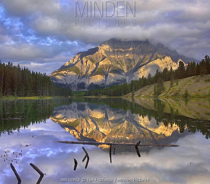 Cascade Mountain and Johnson Lake, Banff National Park, Alberta, Canada  -  Tim Fitzharris