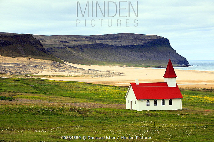 Church of Breidavik, Westfjord, Iceland  -  Duncan Usher