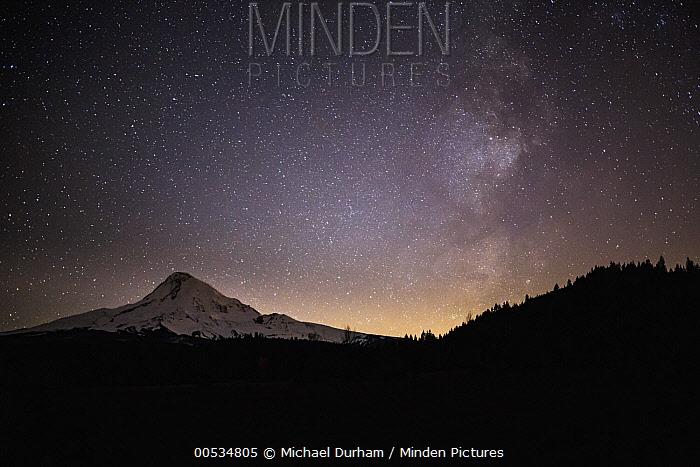 Milky Way in night sky, Mount Hood National Forest, Oregon  -  Michael Durham