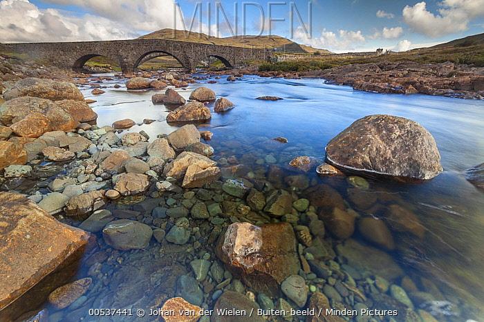 River flowing under Sligachan Bridge, Isle of Skye, Scotland  -  Johan van der Wielen/ Buiten-bee