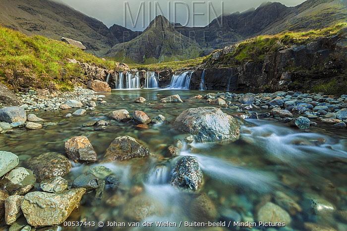 River with waterfalls, Black Cuillin, Isle of Skye, Scotland  -  Johan van der Wielen/ Buiten-bee