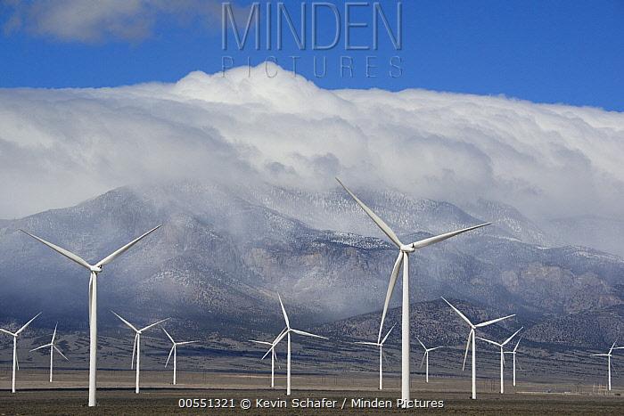 Wind turbines, Schell Creek Range, Nevada  -  Kevin Schafer