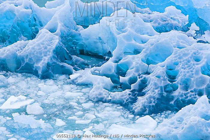 Blue ice, Perito Moreno Glacier, Los Glaciares National Park, Argentina