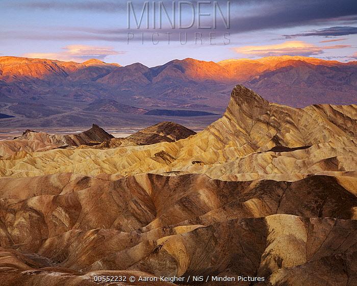 Zabriskie Point at sunrise, Death Valley National Park, California