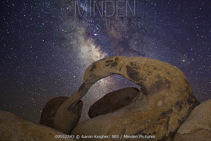 Milky Way and Mobius Arch, Mount Whitney, Alabama Hills, California