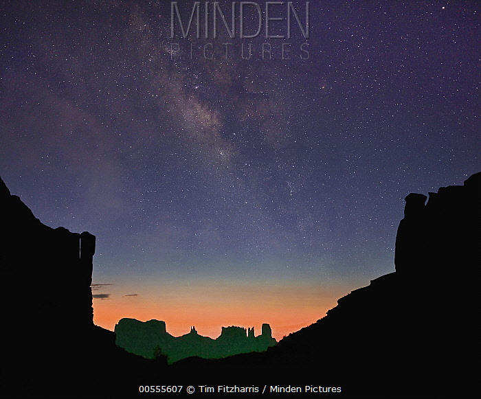 Milky Way over buttes, Monument Valley, Arizona