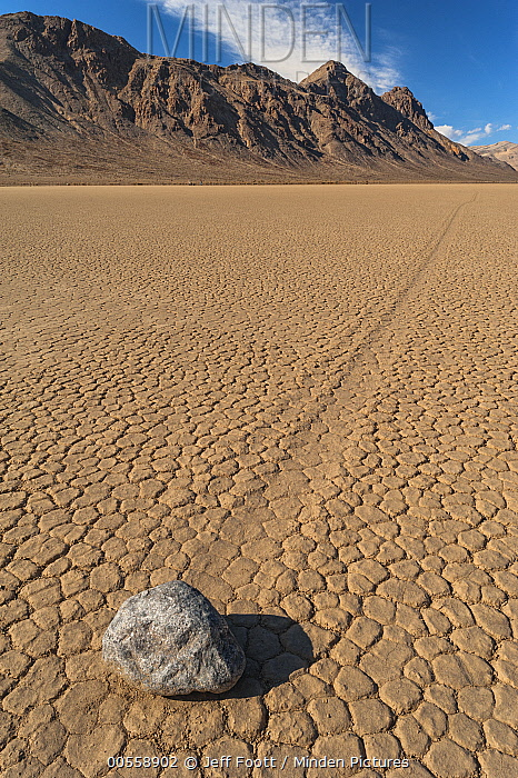 Racetrack Playa with mysterious 'sailing stone', Death Valley National Park, California