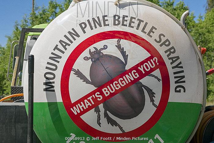 Mountain Pine Beetle (Dendroctonus ponderosae) eradication truck, Colorado
