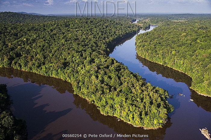 River in rainforest, Kaieteur Falls, Potaro River, Kaieteur National Park, Guyana