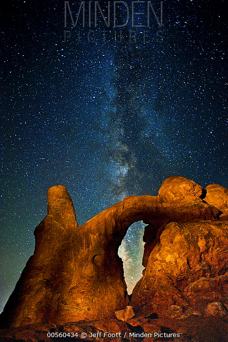 Milky way over arch, Turret Arch, Arches National Park, Utah