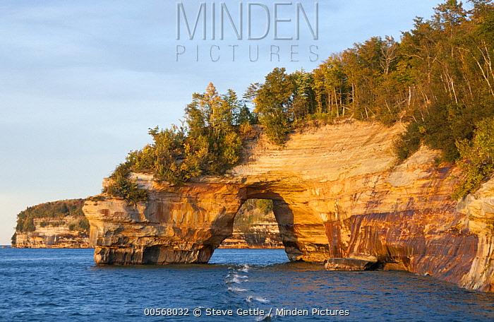 Rock bridge, Pictured Rocks National Lakeshore, Michigan