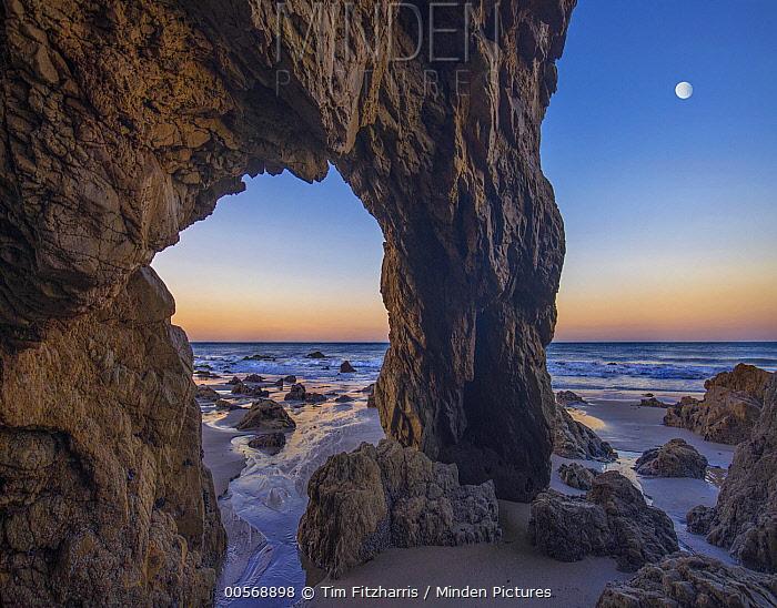 Arch on beach, El Matador State Beach, California