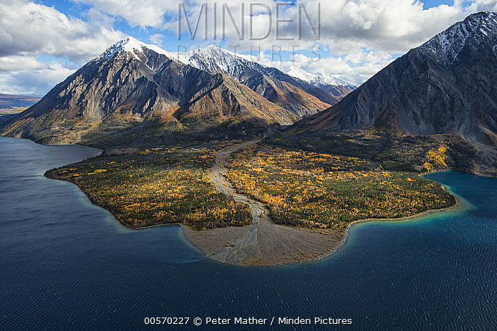 Kathleen Lake beneath Kings Throne mountain, Kluane National Park, Yukon, Canada