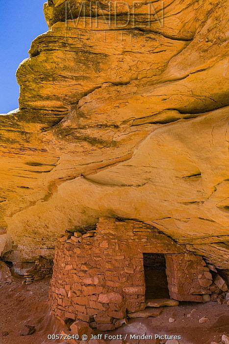 Defensive wall ruin, Cedar Mesa, Bears Ears National Monument, Utah
