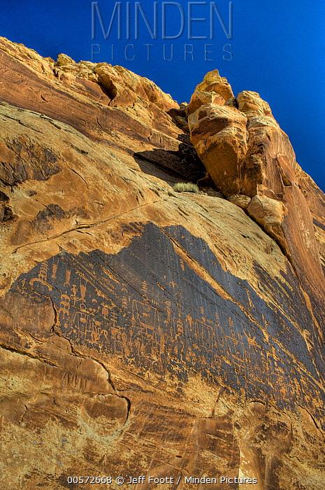 Petroglyphs made by Ancestral Puebloans, Butler Wash, Bears Ears National Monument, Utah