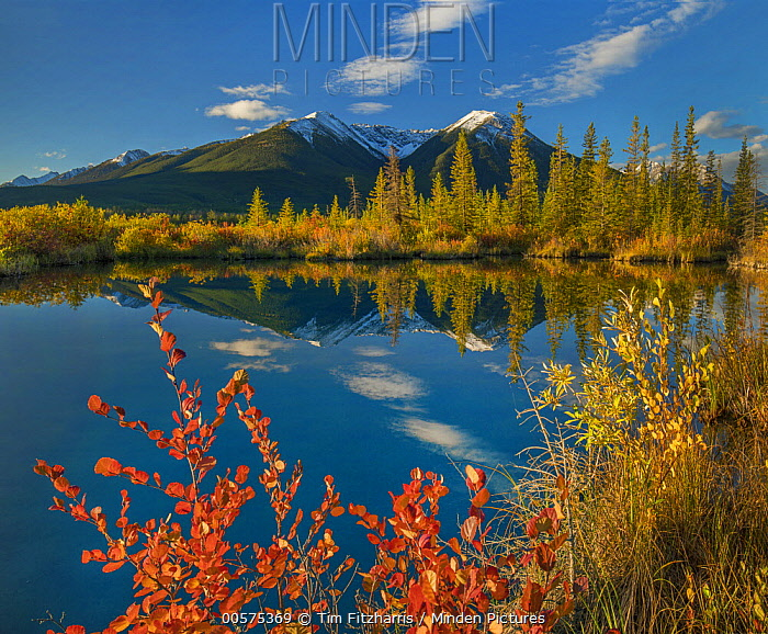 Peaks, Sundance Range, Vermilion Lakes, Banff National Park, Alberta, Canada