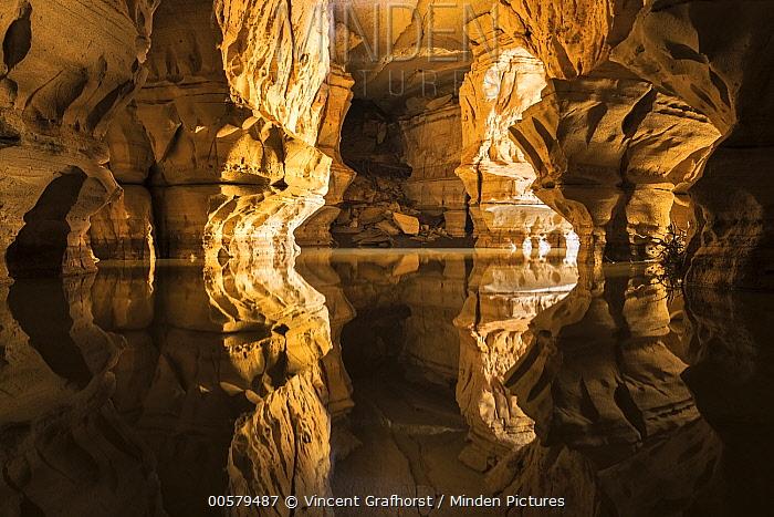 River in sandstone cave, Sof Omar Cave, Ethiopia