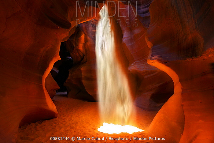 Sunray in slot canyon, Antelope Canyon, Page, Arizona