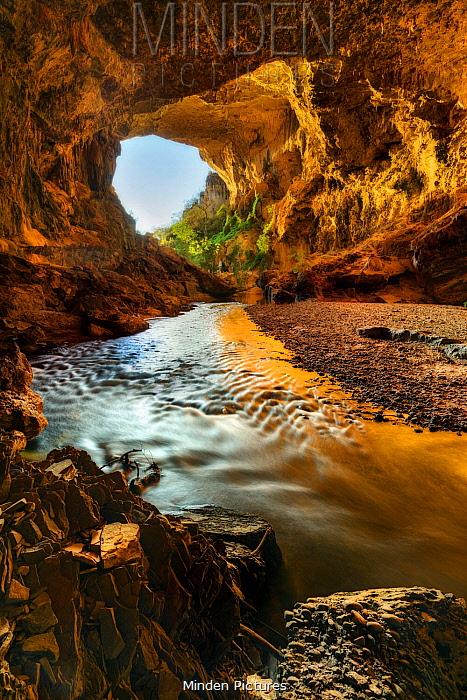 River in Terra Ronca Cave, Cerrado, Brazil