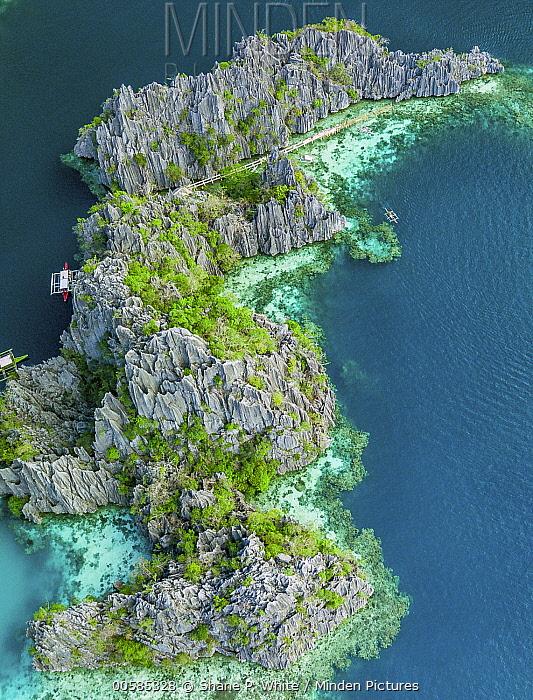 Rock formations, Coron Island, Philippines