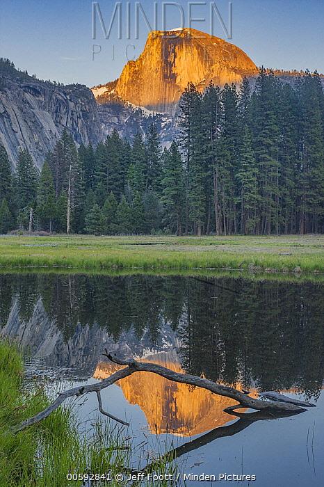Granite peak reflected at sunset, Half Dome, Yosemite National Park, California